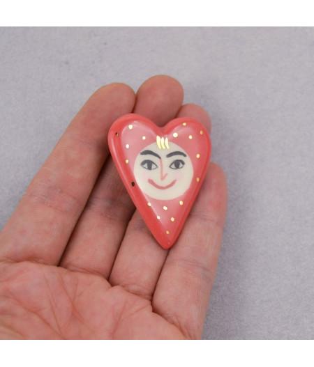Broșă inimă - Happy Heart