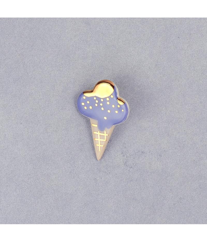Broșă cornet de îngheţată Lavandă