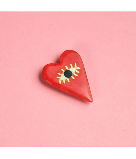 Broşă inimă - I See With My Heart