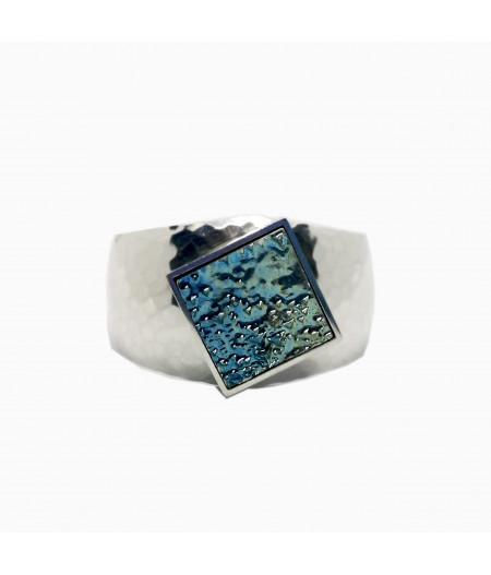 Bratara argint unicat cu bismut Blue Fantasy