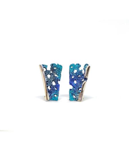 Cercei argint Happy Turquoise