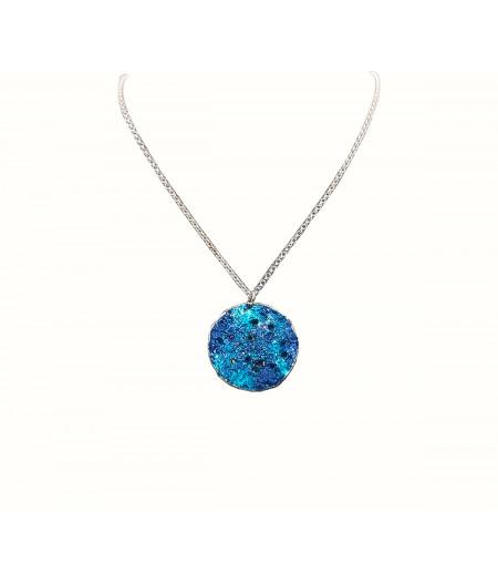 Colier argint Turquoise Drop cu lantisor