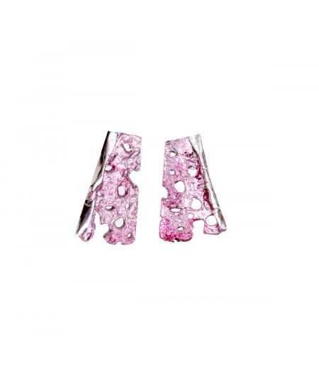 Cercei argint Pink Spring