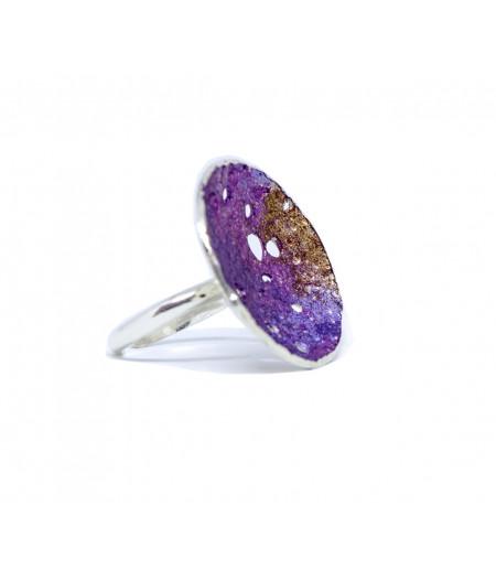 Inel argint Deep Purple
