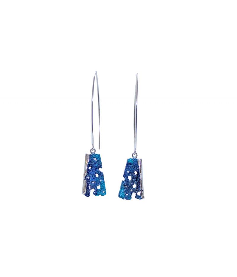 Cercei lungi argint Happy Turquoise