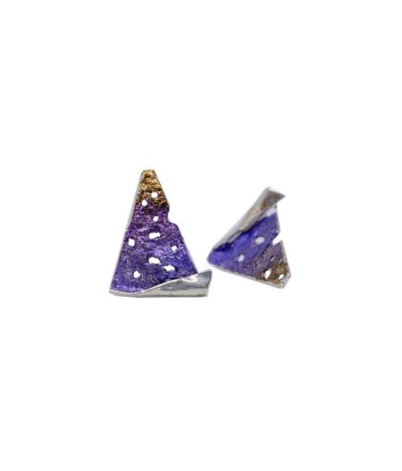 Cercei argint Purple Dreams
