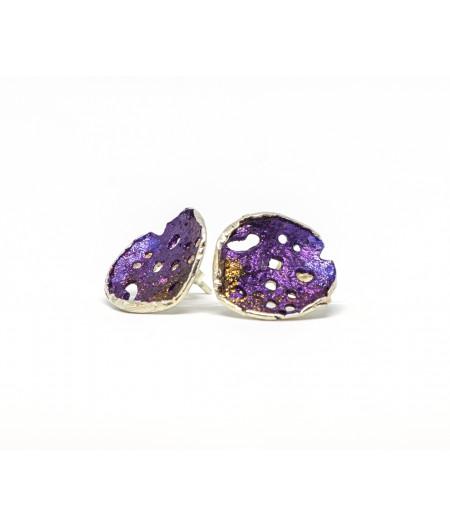 Cercei argint Purple Drops