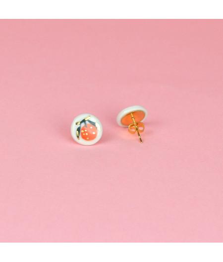 Cercei mici cu portocale Inox
