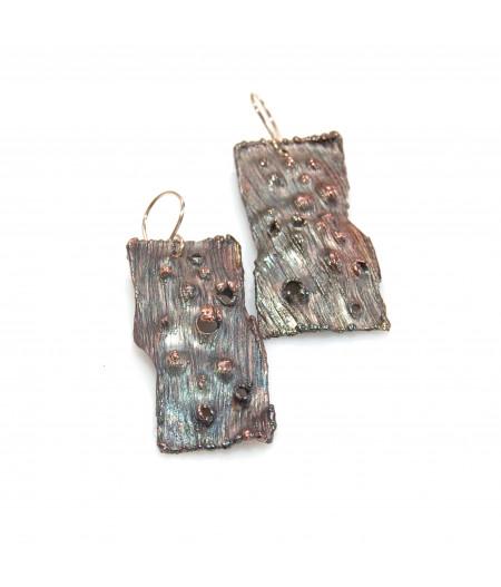 Cercei din cupru oxidat