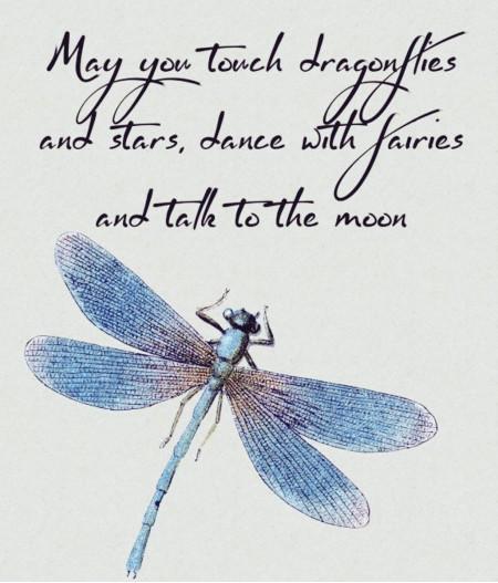 Cercei argint  Blue Dragonfly