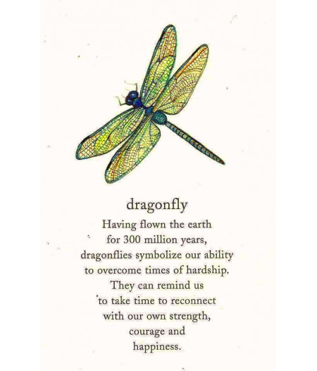 Colier argint Green Dragonfly