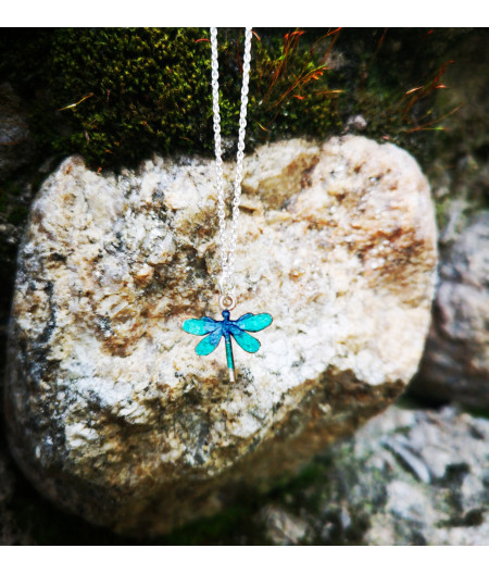 Colier argint Turquoise Dragonfly