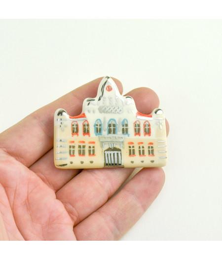 Broșă inspirată de Palatul Episcopiei Ortodoxe Sârbe