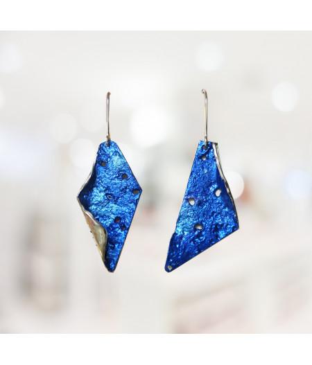 Cercei asimetrici Blue Fantasy