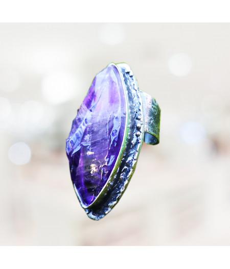 Inel unicat Purple Waves