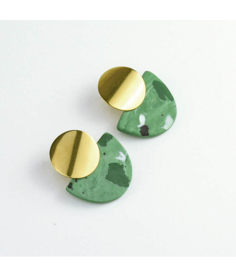 Cercei verzi cu efecte