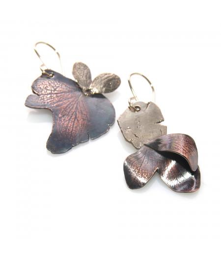 Cercei asimetrici cupru - bronz