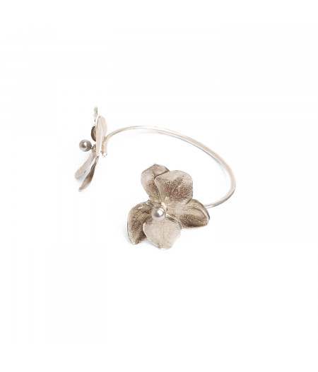 Bratara argint 925 Orhidee cu perle Swarovski/ Silver 925  Orhid bracelet with Swarovski pearls