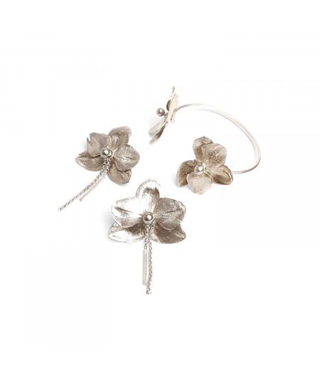 Set cercei si bratara argint 925 / Silver 925 earrings and bracelet