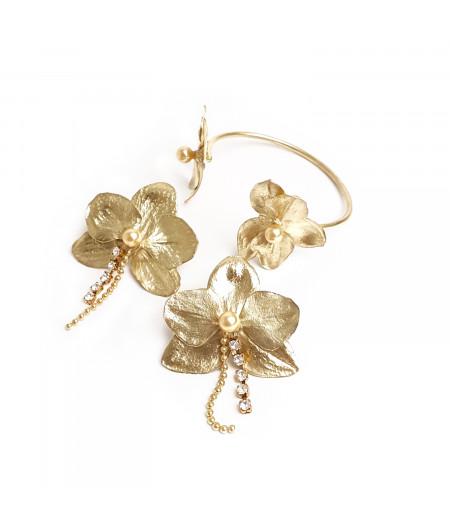 Set cercei si bratara argint 925 placat cu aur/ Silver 925 gold plated earrings and bracelet
