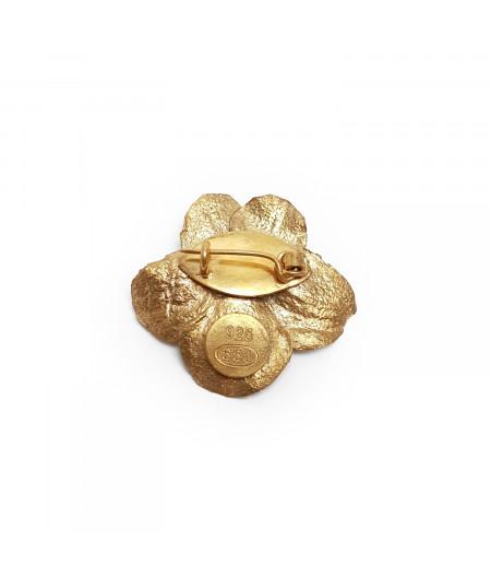 Broșă Flower argint placat cu aur / Silver Gold plated Flower broache