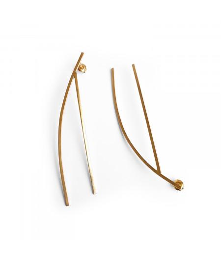 Cercei argint 925 placati cu aur / Silver 925 earrings gold plated