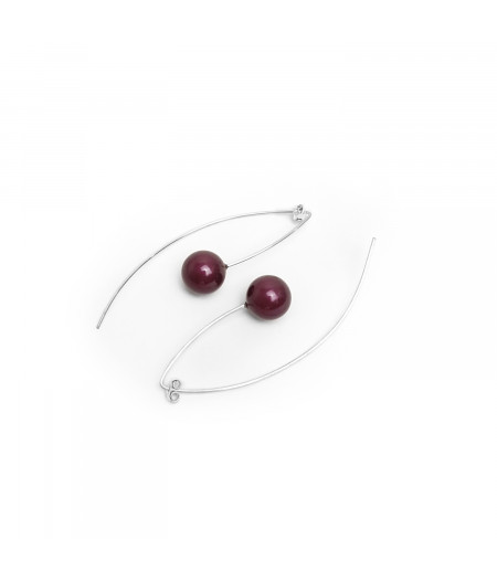 Cercei argint cu perle Swarovski / Silver earrings with Swarovski perls