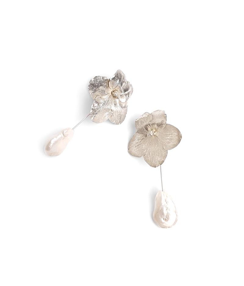Cercei argint cu perle naturale / Silver earrings with Natural pearls