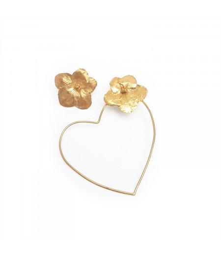 Cercei argint 925 placat cu aur / Silver 925 gold plated earrings