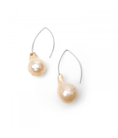 Cercei argint cu perle naturale / Silver earrings with Natural pearls