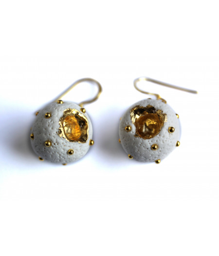 """Expression"" golden foil earrings"