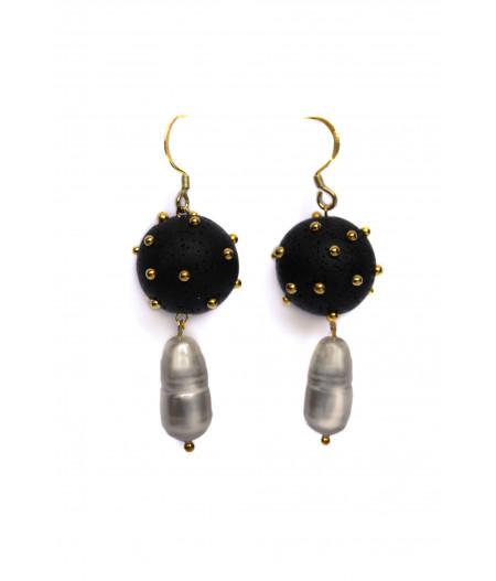 Black sheres pearls