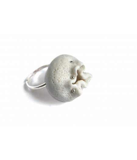 """""""Expression"""" white ring 2"""
