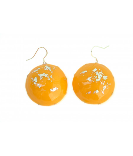 Yellow-candy-silver-foil-earrings
