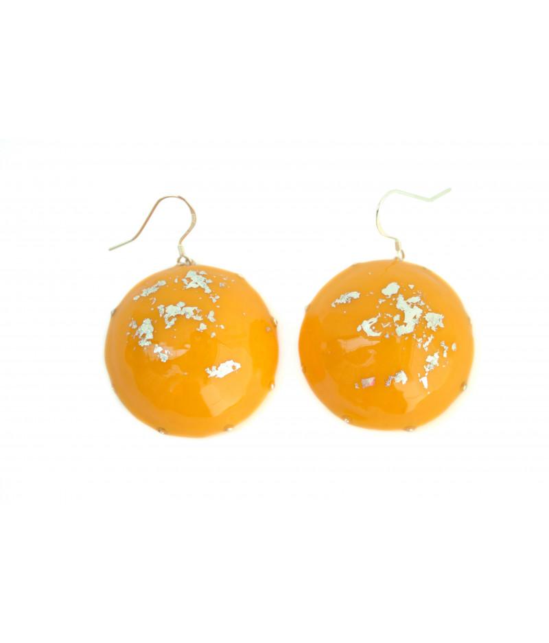 Yellow-candy-silver-foil-earrings