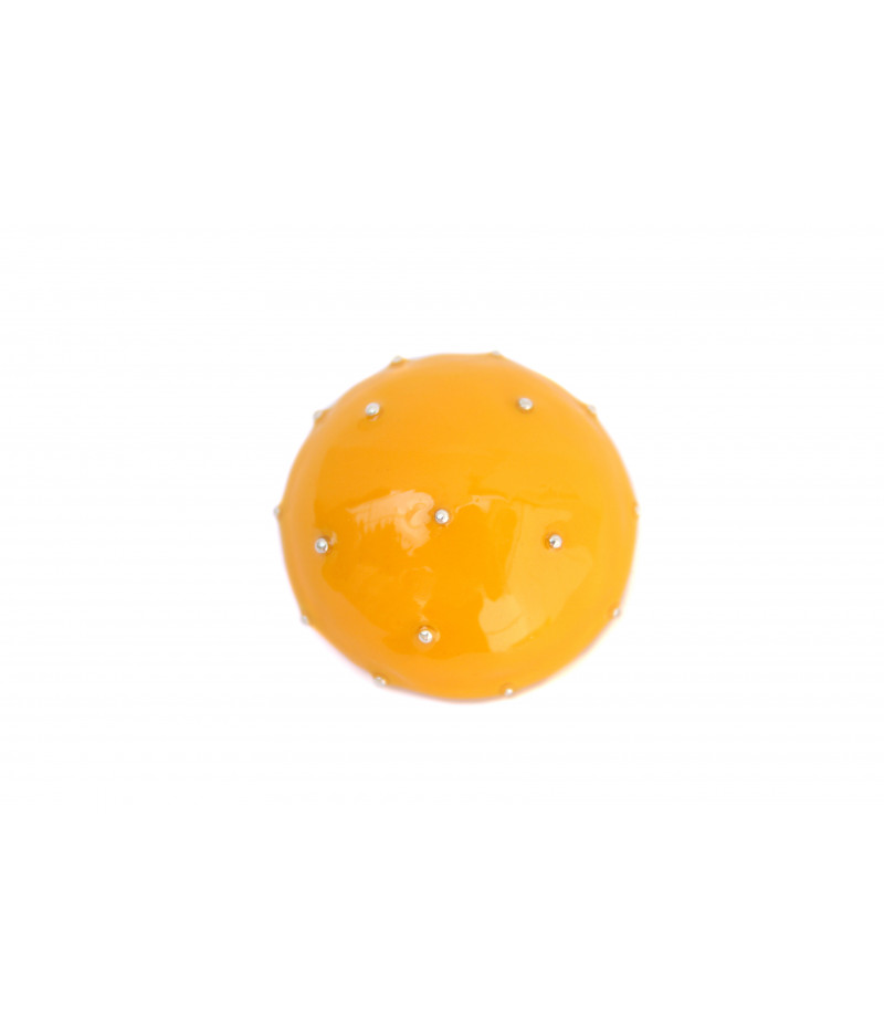 Yellow-candy-brooch