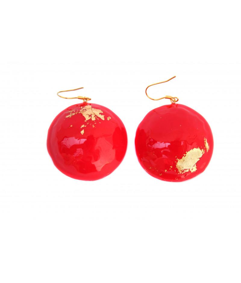Red-candy-golden-foil-earrings