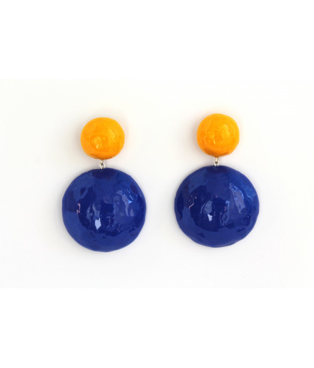 Candy-yellow-blue-contrast-earrings