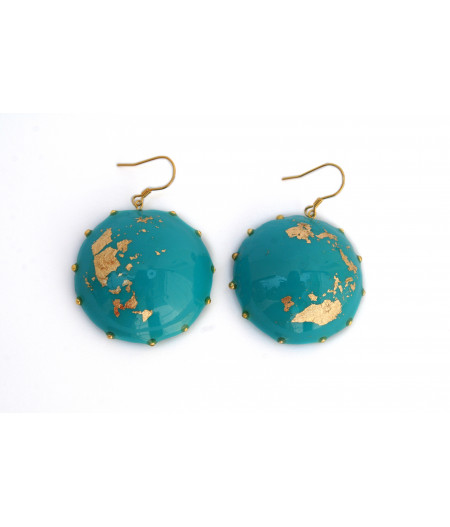 Candy-turquoise-gold-foil-earrings