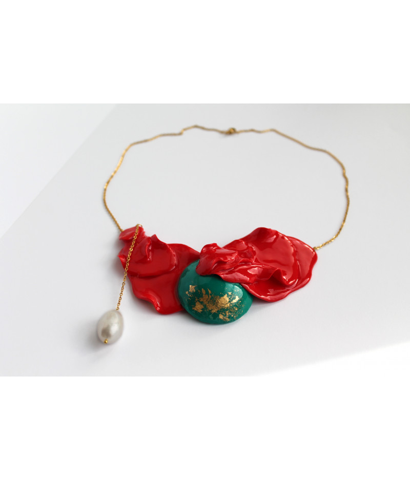 Candy-red-green-necklace