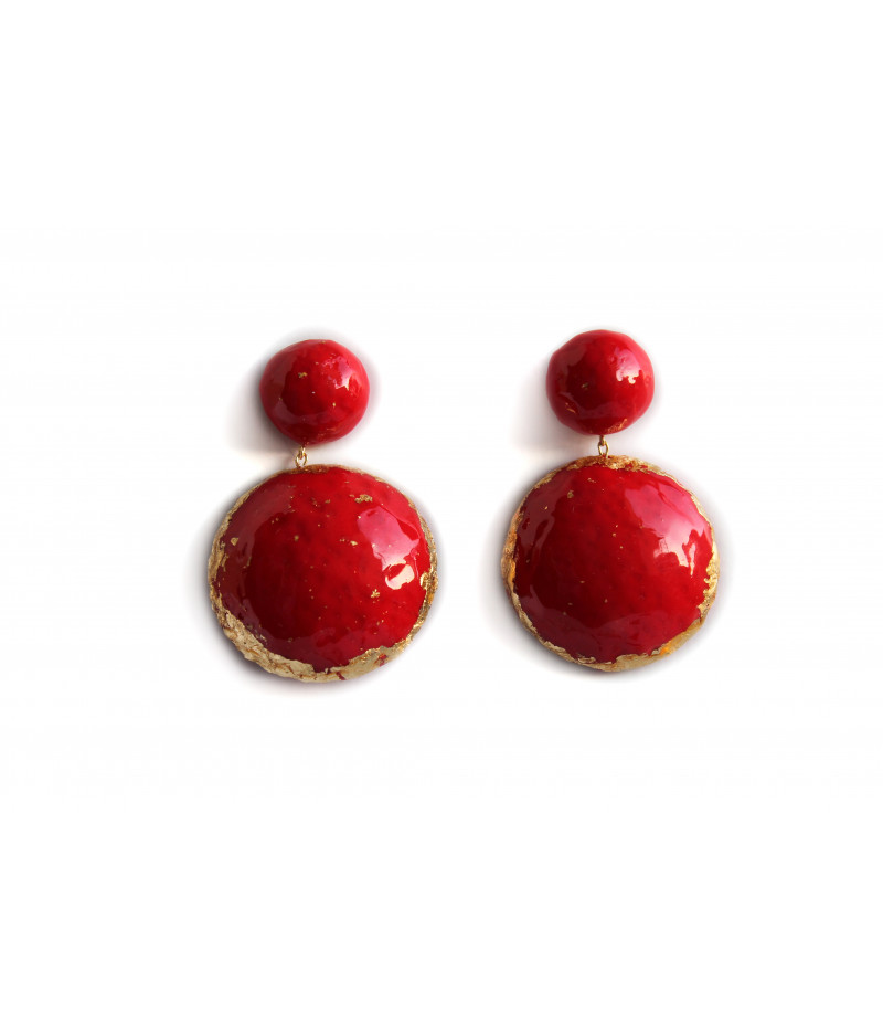 Candy-red-earrings