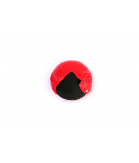 Candy-red-black-brooch
