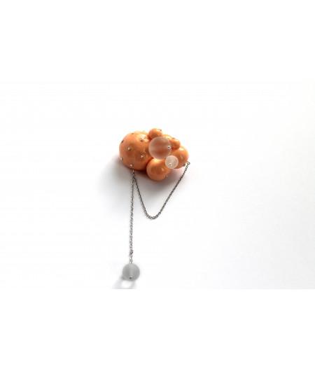 Candy-orange-spheres-brooch