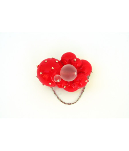 Candy-indian-red-spheres-brooch