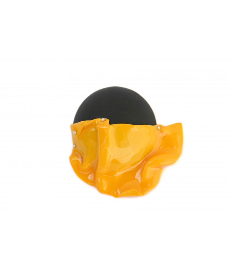 Candy-brooch-yellow-black
