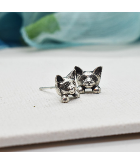 """Cercei din argint """"Pisici mici"""""""