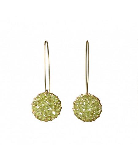 cercei Pendulum cu peridot din gold filled14k/20