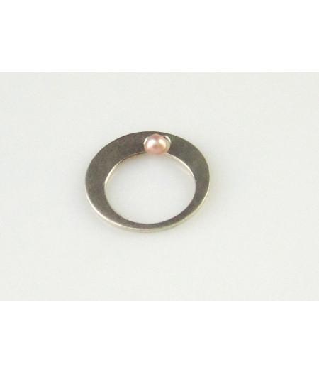 inel din argint cu perla de culturamica