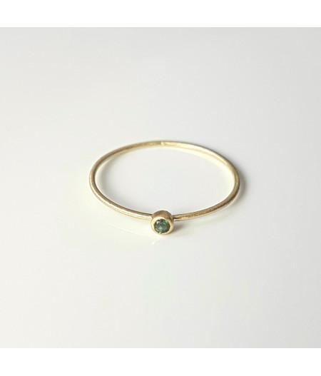 inel Essence of Green din aur 18k mat cu turmalina verde